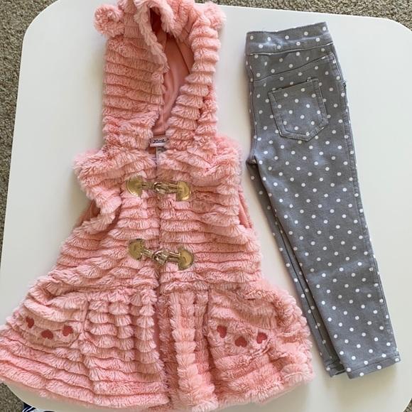 Toddler Girls Vest & Pants Bundle